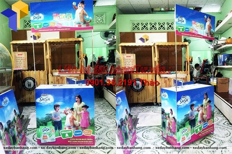 Booth sampling quảng cáo