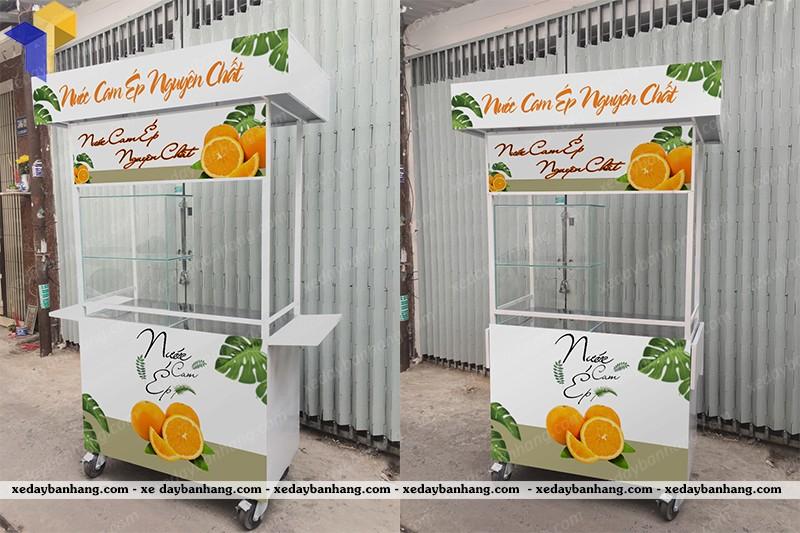 xe bán nước cam ép